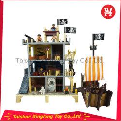 아이들은 해적 시리즈 나무로 되는 인형 집 장난감을 좋아한다
