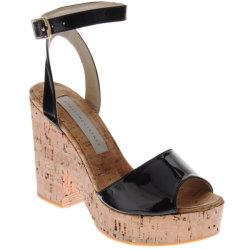 نساء يفتحون إصبع قدم فلينة [فووت-بد] كاحل إبزيم شريط [ودج هيل] خفاف أحذية