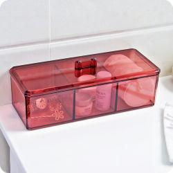 Tampon de coton détenteur de la boîte de rangement étanche aux poussières style Vintage Organisateur de maquillage