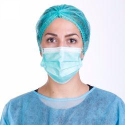China Fornecedor da máscara facial Médico Cirúrgica Shield Earloop descartável e 3sulcar o FEP 99% MARCAÇÃO EN14683 Iir Tipo II Máscara Listt branco