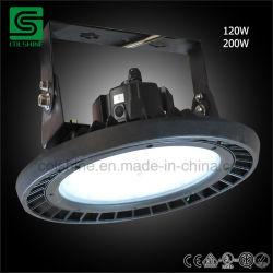 Montaggi industriali dell'indicatore luminoso del magazzino della fabbrica della lampada del UFO LED di ETL dell'alto indicatore luminoso elencato della baia
