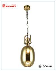 セリウムの承認の現代内部の金ガラスシャンデリア