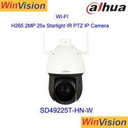 Dahua H. 265 Piscina 2MP Full HD 1080p Wireless WiFi Câmara IP PTZ dome DP49225T-hn-W