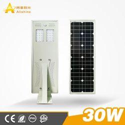 einteiliges integriertes Solarstraßenlaterneder lampen-30W des Garten-LED
