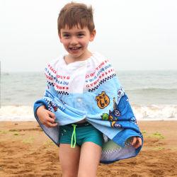 Großverkauf passte 60*120cm Badezimmer-Baden-Strand-änderndes Kleidung-reine Baumwollkinder eingewickeltes Brust-Bad-Tuch des aktiven Drucken-260g weiches saugfähiges an