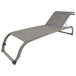 Salotto commerciale del Chaise della maglia di Textilene dell'hotel del giardino con la base di alluminio asciutta rapida di Sun