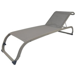 Salotto di alluminio asciutto rapido commerciale del Chaise di Sunbed del tessuto di maglia di Textilene dell'hotel del giardino