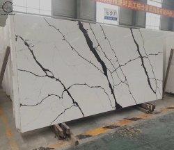 Pedra Coshine Engenharia sintético de cor em mármore branco pedra de quartzo
