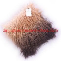 Различных цветов Sheepskin фо меховые подушки/подушечки с норки сзади