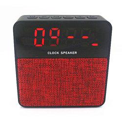 時間アラームデジタルLCDスクリーンが付いている布ファブリックBluetooth T1のクロックスピーカー