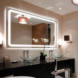 Настенный светодиодный дисплей с подсветкой зеркала в ванной комнате с подсветкой для роскошный отель