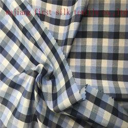 Tecido de algodão de seda Check, tecido de algodão de seda tingido Check, tecido de fio tingido