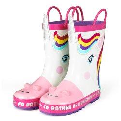 Прелестная Unicorn шаблон белые резиновые чехлы для детей
