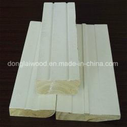 Material de decoração China vermelha à prova de água de alimentação de fábrica Beech Gesso Primer moldura de madeira