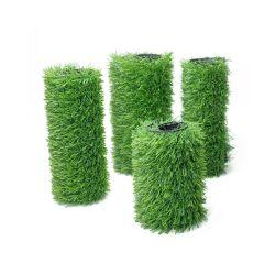 販売のための緑の合成物質PPのPEのフットボールの泥炭の庭の芝生の偽造品の人工的な草の美化