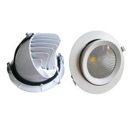 30W Hotel Tienda Galería Gimbal de mazorca de luz LED Downlight LED