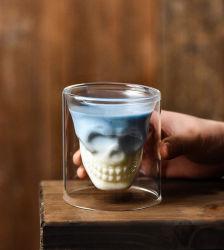 75ml cranio di vetro doppio Cuo per uso del whisky della barra