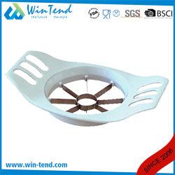 De in het groot Snijder van de Appel van het Roestvrij staal van de Keuken van het Restaurant van het Hotel met Plastic Handvat