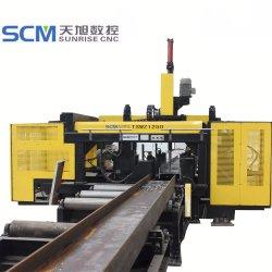 Il CNC irradia la perforatrice della perforatrice per la perforatrice d'acciaio della Manica dei fasci