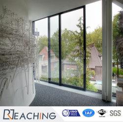Custmoized schwarzes Profil-einzelnes ausgeglichenes Glas-schiebendes Fenster der Farben-UPVC/PVC