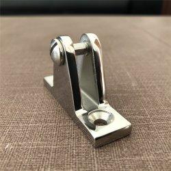 Edelstahl Bimini Spitzenbefestigungsteile 90 Grad-Plattform-Scharnier mit entfernbarem Pin