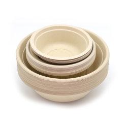 Одноразовые продовольственной контейнер биоразлагаемых посудой в микроволновой печи сахарного тростника чаши с крышками для Meal-Prep