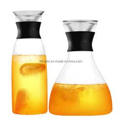 Gran capacidad mayorista 1400ml personalizada resistentes al calor de la olla de agua de vidrio de borosilicato de alta
