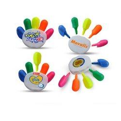 5 пальцами руки пера маркера формы 5 цветной маркер маркера и рекламных подарков перо маркера