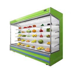 공급자 슈퍼마켓 다중 갑판 열려있는 냉각장치 에너지 절약 음료 냉장고 전시 야채 냉각기