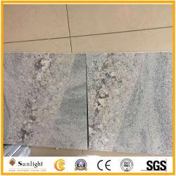 Granit poli blanc naturel de la soie avec Crystal Ligne pour mur et des tuiles de plancher