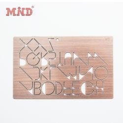 Aço inoxidável moda Metal Personalizado Visite o nome do cartão de negócios