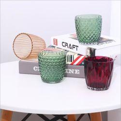 安い円形はギフトの芸術のガラス蝋燭のホルダーのガラス瓶をカスタマイズする