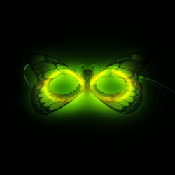 Quente! Elegante design criativo Glow Stick Máscara