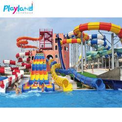 La fibra de vidrio Equipos de parque acuático Aqua Park de la fábrica de agua de la familia de diapositivas de juego