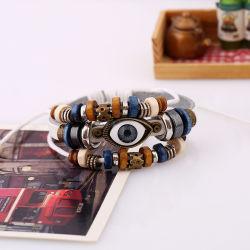 De nieuwe Manier Gevlechte Juwelen Van uitstekende kwaliteit van de Armband van het Leer van de Mensen Pu van de Juwelen van de Armband van het Leer Mens voor Mensen