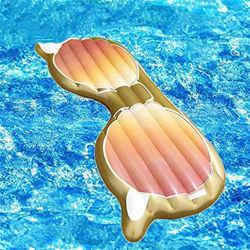 Aufblasbare Augen schwimmende Entwässerung nach oben schwimmende Bett Werbung Sonnenbrillen Wasser Lehnstuhl PVC Luftblasen Einauge Rahmen