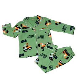 Nuevo estilo de moda Pijama cuello Polo niña de dibujos animados de ropa Otoño Invierno 2pcs chico traje de dormir Pijama bebé niñas niños dormilones dormir Pajama establece