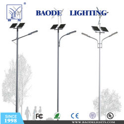 Luz de aço Pole, Iluminação Pública Pólo, tudo em uma única lâmpada de Rua Solar LED integrado