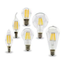 Retro Edison E27 E14 Lâmpada, LED lâmpada de filamento de lâmpada, 220V-240V C35 G45 A60 St64 G80 G95 G125 Lâmpada de vidro, Vintage luminária de luz