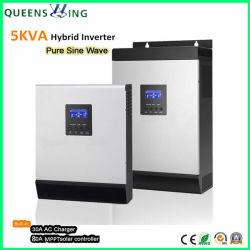1kVA/3kVA/5kVA Accueil hors réseau hybride solaire onduleurs de puissance avec contrôleur solaire intégré (QW-5kVA4850)