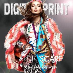 100% шелковые шарфы печать с помощью ручного перекатываться Hemming (M082)