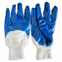 Industrielle Sicherheit, die blaues Nitril-überzogenen Handschuh (JMC-401D, bearbeitet)