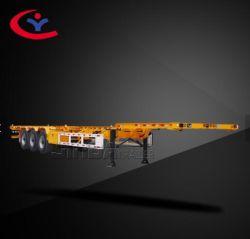 Jinda контейнерных перевозок 12 колеса 40FT планшет гидравлического подъема прицепа