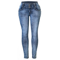 Оптовая торговля женщинами дамы растянуть высокой Waisted джинсы