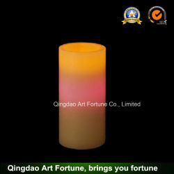 Bougie de cire Flameless LED avec ce changement de couleur, RoHS Ceftificated