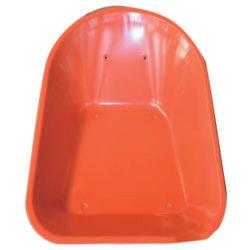 Zoll angestrichene orange Farben-Schubkarre-Stahlmetallwanne
