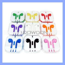 Auriculares de cores para iPhone 5 5s 6 Earpods fones de ouvido com microfone e controlo de volume