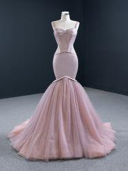 Pageant Vestidos Nude noite vestidos Mermaid Contratante Prom roupões E1474