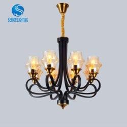 새로운 디자인 식당 샹들리에 현대 유리제 금속 LED 펀던트 램프