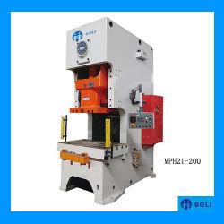 Front ouvert Unique Point presse mécanique Hydraulique Mécanique poinçonnage/poinçonneuse